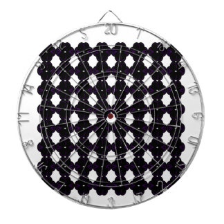 Lace black on white dartboard