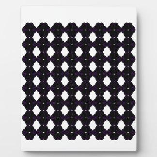 Lace black on white plaque