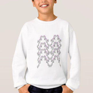 Lace black on white sweatshirt