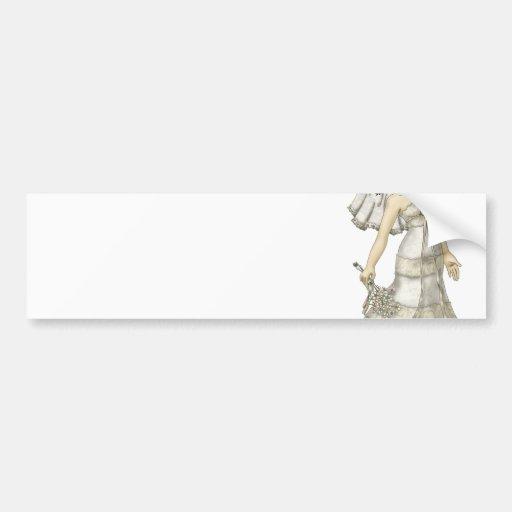Lace Bride Bumper Sticker