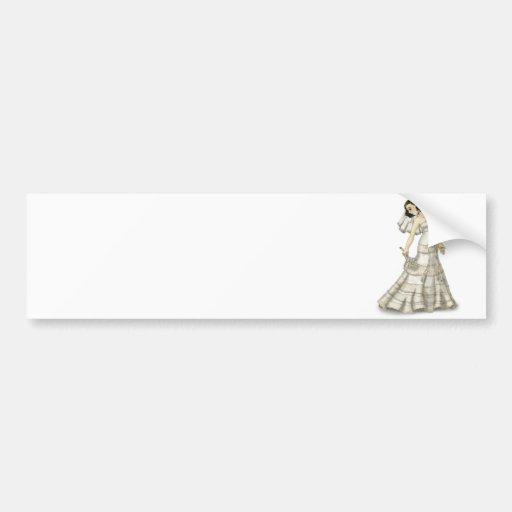 Lace Bride Bumper Stickers