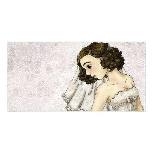 Lace Bride Custom Photo Card
