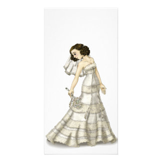 Lace Bride Photo Greeting Card