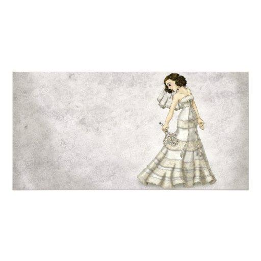 Lace Bride Picture Card