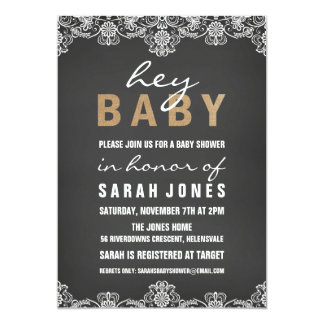 Lace & Burlap Baby Shower Invitation