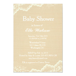 Burlap Baby Shower Invitations Announcements Zazzle Canada