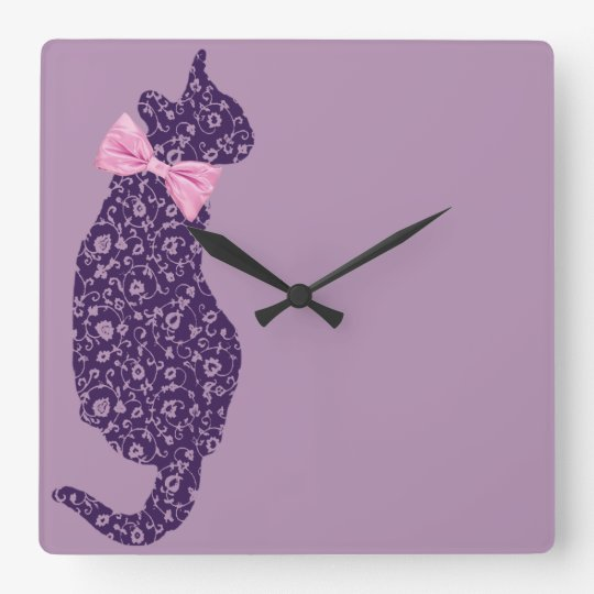 Lace Cat Clock