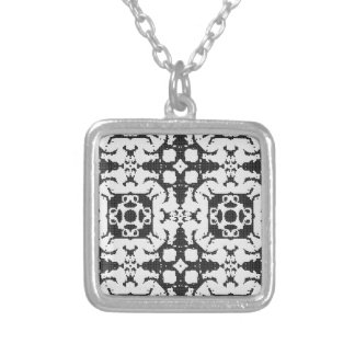 Lace curtain texture silver plated necklace