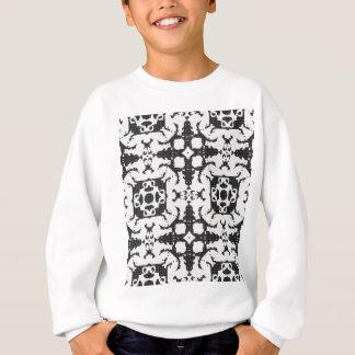 Lace curtain texture sweatshirt