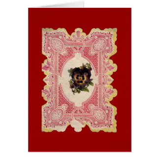 Lace Cut-Out Valentine Card
