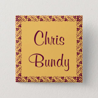 Lace Design Name Tag Pin