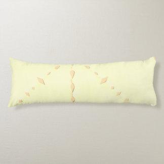 Lace design yellow pillow. body pillow