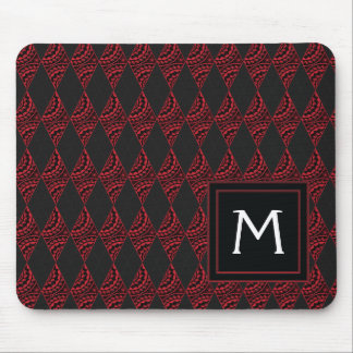 Lace Diamond Argyle Pattern With Initial Mouse Pad