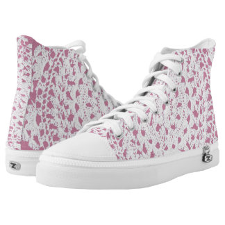 Lace Doily Look High Tops