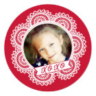 Lace Doily Photo Valentine's Card