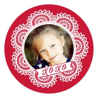 Lace Doily Photo Valentine's Card