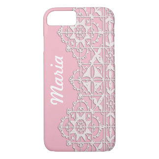 Lace Embroidery Custom Cell Phone Case