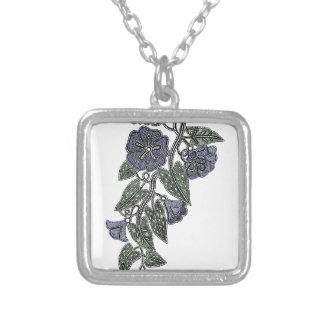 Lace Flowers 2 Silver Plated Necklace