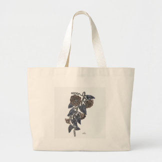 Lace Flowers Large Tote Bag
