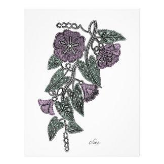 Lace Flowers Letterhead