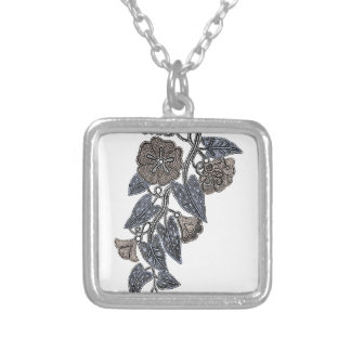 Lace Flowers Silver Plated Necklace
