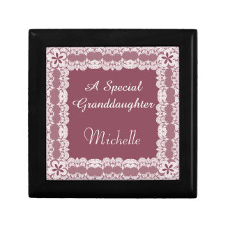 Lace Frame Granddaughter Personalized Gift Box