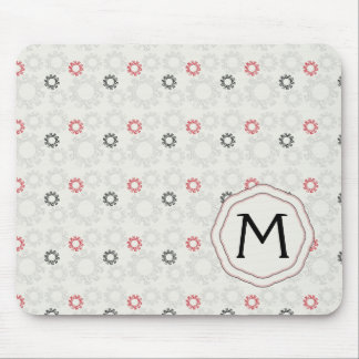 Lace Gears Pattern With Initial Mouse Pad