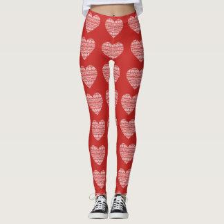 Lace Heart Leggings
