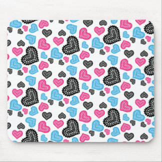 Lace Hearts Mouse Pad