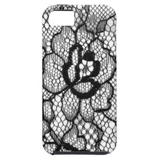 Lace IPhone Cover Flower Black White
