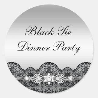 Lace & Jewel Black Tie Dinner Party Sticker