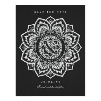 Lace Mandala Save the Date Wedding Postcards