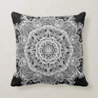 Lace Mandala Throw Pillow