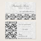 Lace Modern Subtlety Damask Hair Salon Appointment Business Card