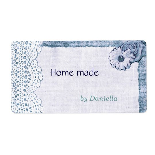 Lace on burlap label shipping label