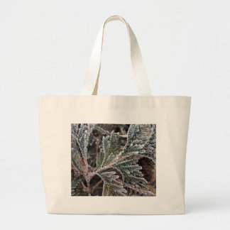 Lace on twigs large tote bag