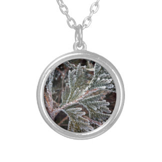 Lace on twigs silver plated necklace