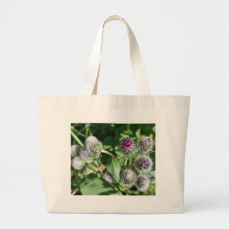 lace over thistle large tote bag