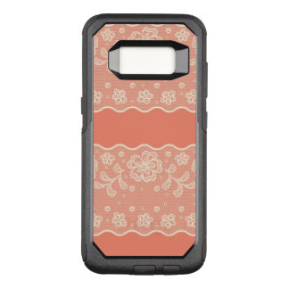 Lace pattern, flower vintage 4 OtterBox commuter samsung galaxy s8 case