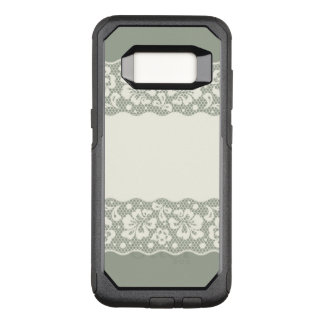 Lace pattern, flower vintage 5 OtterBox commuter samsung galaxy s8 case