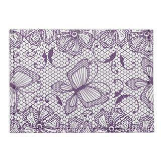 Lace pattern with butterflies tyvek® card case wallet