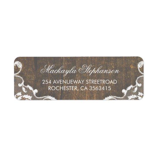 Lace Rustic Wood Wedding