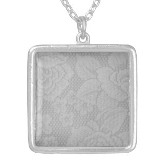 Lace Silver Plated Necklace