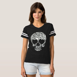 Lace Skull Football Jersey T-shirt