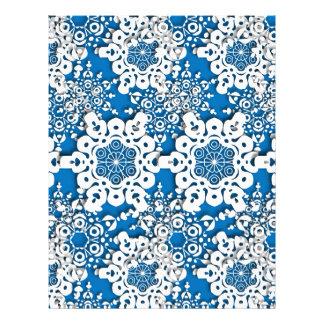 Lace snowflake 4 customized letterhead