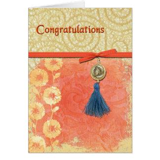 Lace Swirl Congratulations Card