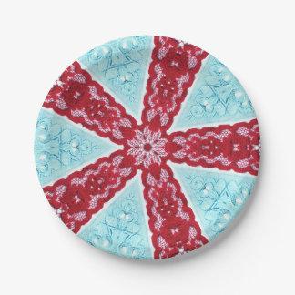 Lace Texture Print Design Cake Plates
