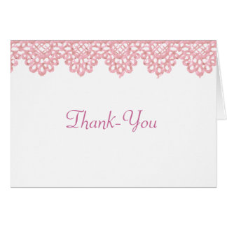 Lace Thank-You Note Card