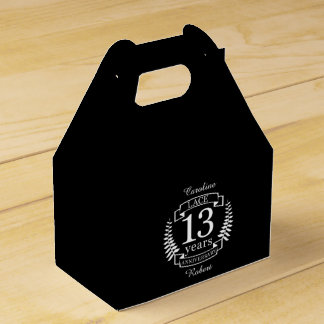 Lace Traditional wedding anniversary 13 years Favor Box