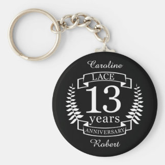Lace Traditional wedding anniversary 13 years Keychain